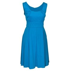Bright turquois pleated dress